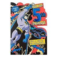 """Hallmark Warner Brothers 4th Birthday Card""""Batman"""" - Medium"""