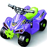 6v Battery Powered Electric Junior Ride On Quad Bike - Purple