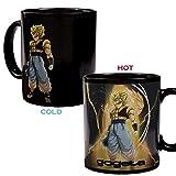 Dragon Ball Z Becher, Farbwechsel Wärmereaktiv Kaffeebecher, Großer Geschenk Tassen für Dragon Ball Fans, Männer and Junge (gogeta)