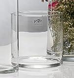 Glasvase Cyli klar zylindrisch 15 cm Ø 15 cm hot cut von Sandra Rich