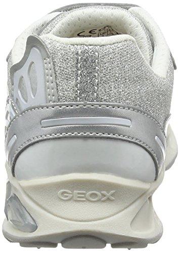 Geox J Shuttle B, Scarpe da Ginnastica Basse Bambina Argento (Silver/whitec0434)