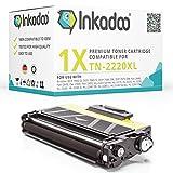 Inkadoo Toner Kompatibel für Brother DCP 7065dn, Fax 2840, Fax 2940, HL 2240, HL 2250dn, MFC 7460dn ersetzt TN2220 - Premium Drucker-Kartusche- Schwarz – 5.200 Seiten