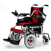 LUO Silla de Ruedas Eléctrica de Tracción Delantera con Discapacidad Scooter Discapacitados Tracción Delantera,Rojo
