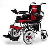 WU Elektrischer Rollstuhl Front-Drive Ältere Behinderte Roller Frontantrieb,Rot,Einheitsgröße