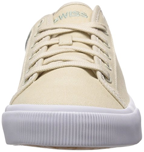 K-Swiss Bridgeport II Hommes Toile Baskets Sandshell-Granite Green-White