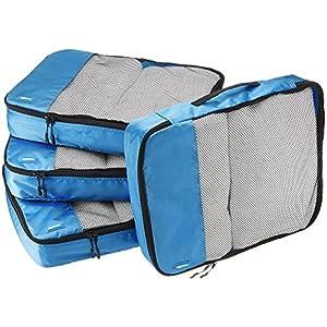 AmazonBasics – Bolsas de equipaje (2 medianas, 2 grandes; 4 unidades), Azul