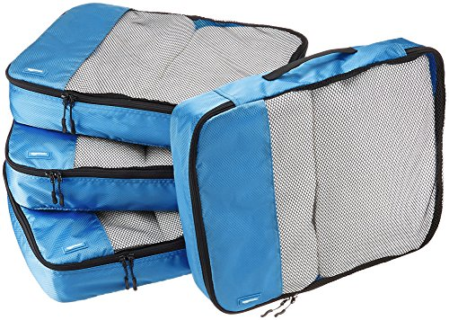 AmazonBasics Packing Cubes/Travel Pouch/Travel Organizer- Large, Blue