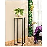 Cdbl scaffale di stoccaggio Flower stand in ferro e legno Simple Modern Fashion Living Room Arte e bellezza supporto in legno massello Scaffale per piante (dimensioni : 30 * 30 * 100)