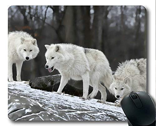 Yanteng Gaming-Mauspad, Schnee Winter Tier Wolf Mauspad