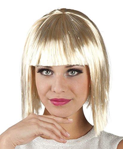 Boland 86164 Erwachsenenperücke Gigi Glamour mit Lametta, blond, One Size (Kostüm Gaga Halloween Lady)