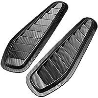 Schwarz non-brand MagiDeal Auto Lufteinlass Motorhaube Lufthutze Dachhutze Vent Cover Hood Auto Dekoration