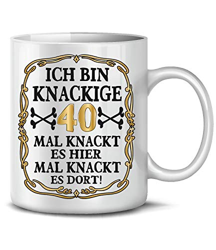 Golebros Ich Bin Knackige 40 Tasse Becher Kaffee Runder Geburtstag Geschenk Frauen Männer Birthday Ihn Sie Artikel Ideen Jahre Alter Freund Freundin (40. Geburtstag-ideen Für Frauen, Deko)