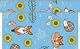 Sovie Home Tischläufer Florian/Linclass Airlaid Tischläufer 40cm x 4,80m / Tischdecken-Rolle stoffähnlich/Einmal-Tischdecke für Partys und Geburtstage (Blau)