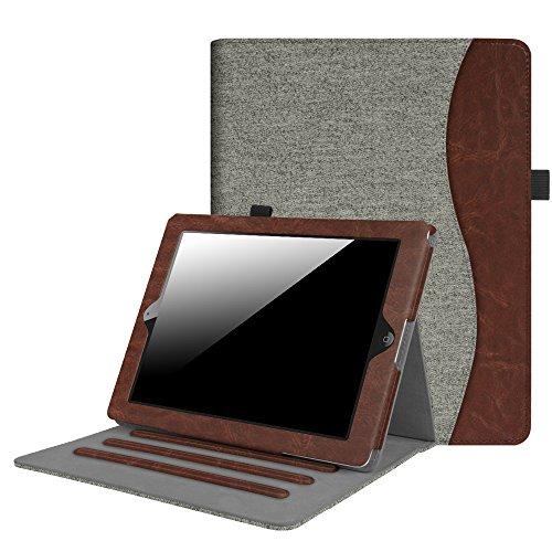 Fintie Hülle für iPad 2 / iPad 3 / iPad 4 - [Eckenschutz] Multi-Winkel Betrachtung Folio Stand Schutzhülle Cover Case mit Dokumentschlitze, Auto Schlaf/Wach Funktion, Denim grau