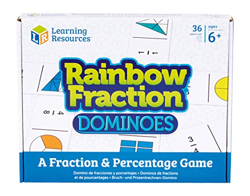 Learning Resources Rainbow Fraction Dominoes