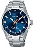 Pulsar Active Reloj para Hombre Analógico de Cuarzo con Brazalete de Acero Inoxidable PS9505X1