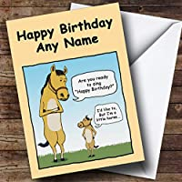 Little Horse Funny Personalised Birthday Card