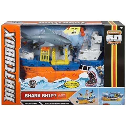 Exclusive Matchbox 60th Anniversary Special Edition Playset - Mega Rig Shark Ship by Mattel