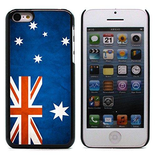 Graphic4You Vintage Uralt Flagge Von Israel Israelisch Design Harte Hülle Case Tasche Schutzhülle für Apple iPhone 5C Australien Australier