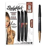 Bodymark By BIC - Bolígrafos de tatuaje temporales y plantillas, diseño de Henné