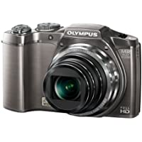 Olympus SZ-31 Traveller 3D Camera with FHD 25mm Wide Lens - Silver (16MP, 24x Optical Zoom) 3 inch LCD