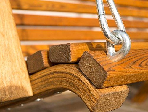 Design Hollywoodschaukel RIO aus Holz Lärche mit Dach von AS-S - 4