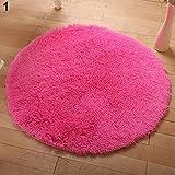 Amesii - Soffice tappeto rotondo, antiscivolo, per bagno, camera da letto, yoga, decorativo -# 1CF0278, dimensioni:40cm x 40cm #1 Cf0278