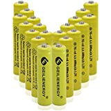GEILIENERGY 20 Pieces Set Yellow Color AA Size NiCd 600mAh 1.2V Rechargeable Battery For Solar Lamp Solar Light