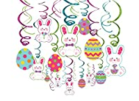 Amscam Easter Mega Value Pack Foil Swirl Decorations, Multicolor