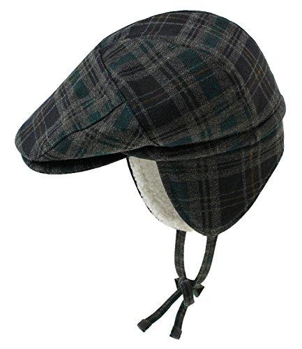 Maximo Jungenflatcap Flatcap Schiebermütze Schirmmütze Wintermütze Streetwear Ohrenklappen für Kinder (MX-74509-619700-W17-JU2-4644-51) in Schwarz/Kiefer,...