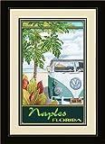 Northwest Art Mall ed-5864mfgdm STH Neapel Florida Truck Hula gerahmtes Wandbild Kunst von Künstlerin Evelyn Jenkins Drew, 33x 40,6cm