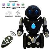 ThinkGizmos Ferngesteuerter Balance Spielzeug-Roboter für Kinder – Intelligenter, interaktiver RC-Roboter (geschützte Marke) (Black & Silver)