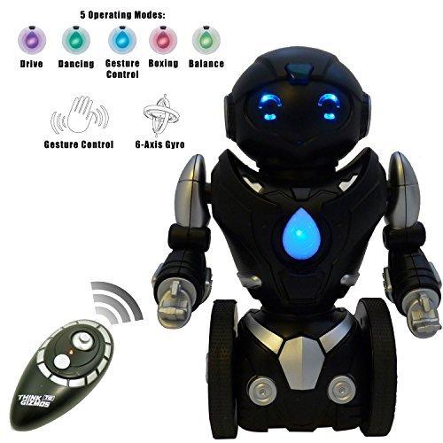Robot-de-Juguete-que-se-Balancea-Solo-a-Control-Remoto-para-Nios--Inteligente-Robot-RC-Interactivo-de-ThinkGizmos-Marca-protegida
