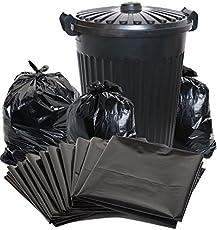 ROYALS Plastic Garbage/Dustbin/Trash Bags(Black,vvt_garbage19212) - Pack of 6,180Bags