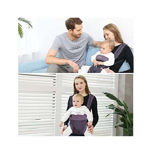 "NEWSTYLE Baby Carrier Slings for Toddler,Safety Baby Front Back Carrier Infant Backpack Wrap,Premium Cotton Baby Carrier,Ergonomic All Position Baby Backpack for Newborn Infants Toddlers (Navy Blue)  ❤ Safe Material: Soft cotton 100%.Breathable fabric keeps baby skin dry.fast-drying,not fade,not sticky with wool. ❤ Ergonomic Design: Easy to adjust seat supports your baby in an ergonomic natural ""M"" position in all carry positions from baby to toddler.ensure baby's hips and legs are positioned correctly and comfortably. ❤Also Thoughtful Enough for You: Collapsible hood for wind and sun protection,Machine Washable, Lightweight, Foldable, Wide and thick backpack straps help relieve stress . Easy to put on or take off.all details are custom just for you. 6"