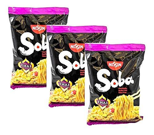 Nissin Soba Noodles di Grano Fritti al Gusto Thai - 3 x 109 Gram