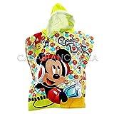 Non brand Poncho Accappatoio di Spugna Disney Mickey Geek