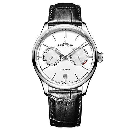 REEF TIGER Herren Uhr analog Automatik mit Leder Armband RGA1620-YWB