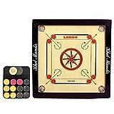 #7: GSI Khel Mandir Gloss Finish Carrom Board with Coins, Striker and Powder (Small 20 inch 4mm)
