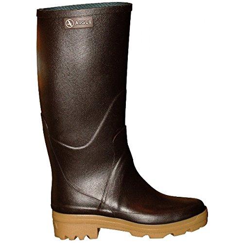 Aigle Chambord Pro L2 Damen Gummistiefel braun EUR 36 Rubber Boots Gummi Reit-Stiefel
