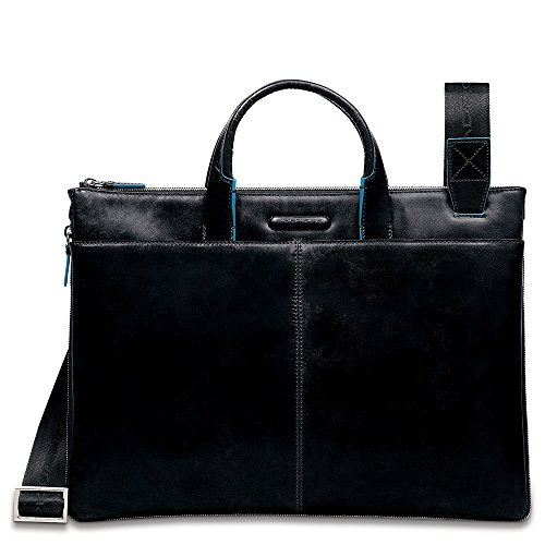 Piquadro Blue Square Aktentasche Leder 40 cm schwarz