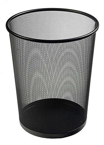 Osco WB27.5-BLK Papierkorb aus Drahtgeflecht, 27.5 cm hoch, schwarz