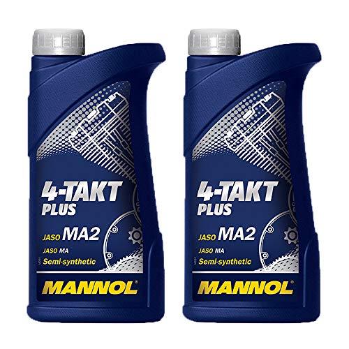 MANNOL 2 x 1 Liter 4-Takt Plus 10W-40 API SL JASO MA2 Motorenöl