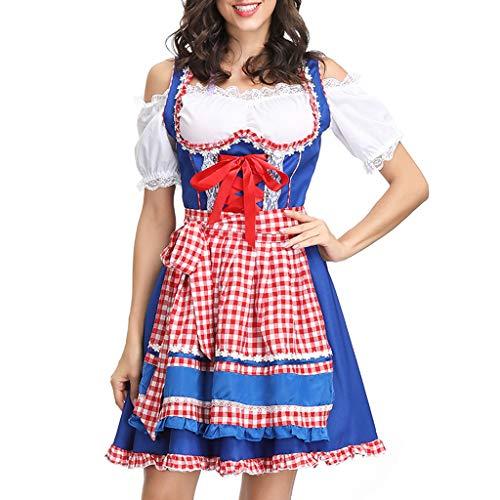 Harem Kostüm 3 Teiliges - Allence Oktoberfest Damen Kleider,Dirndl Kleid Bayerische Bar Maid Party Cosplay Dirndl Traditionelles Minikleid Oktoberfest Karneval KostüM 3 Teilig Set