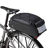 DCCN Borsa Portadocumenti Borsa Portapacchi Bicicletta 10L con Tracolla e parapioggia 41 * 18 * 18 cm - Nero
