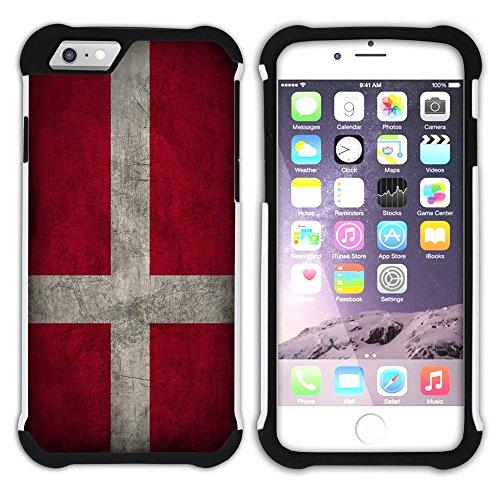Graphic4You Vintage Uralt Flagge Von Finnland Finnisch Design Hart + Weiche Kratzfeste Hülle Case Schale Tasche Schutzhülle für Apple iPhone 6 / 6S Dänemark Dänisch