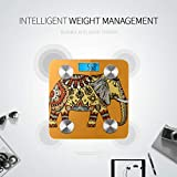 African Ethnice Tattoo Elephant Badezimmerwaage Weight Watchers Scales Tracks 8...