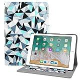 Dailylux New iPad 9,7 Zoll 2017/2018 Hülle Multi-Winkel Betrachtung Stehen Leder Cover Apple iPad 9,7 Zoll 2017/2018 Tablet mit Auto schlafen Wake-Bunte Dreieck
