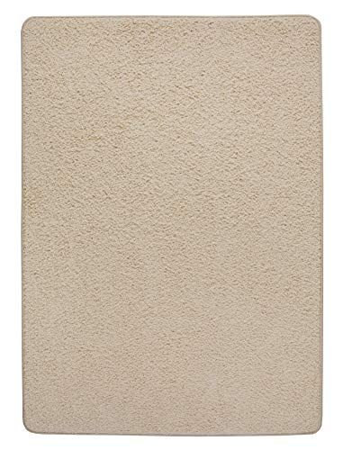 Misento 292122 Shaggy - Alfombra (pelo largo, 100 x 150 cm), color beige