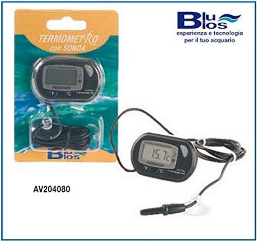 Blu Bios Digital-Thermometer mit Sonde für Aquarien und Terrarien